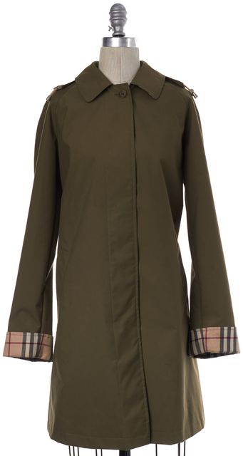 BURBERRY LONDON Olive Green Rowant Button Down Jacket