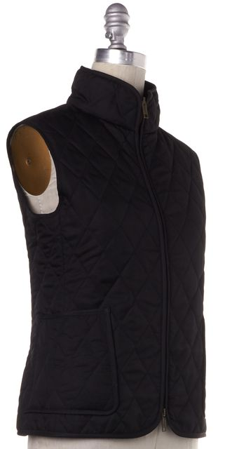 BURBERRY LONDON Black Quilted Vest