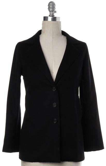 BURBERRY LONDON Classic Black Wool 3 Button Basic Jacket