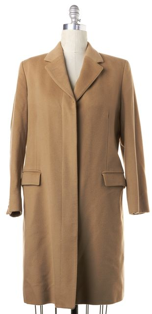BURBERRY LONDON Khaki Brown Wool Cashmere Button Front Coat