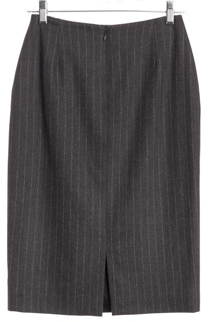 BURBERRY LONDON Gray Blue Pinstriped Straight Skirt