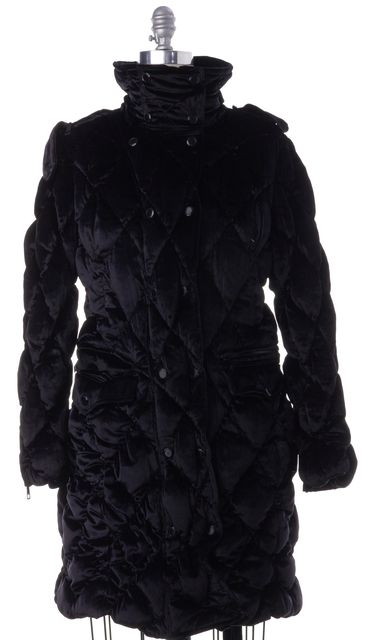 BURBERRY LONDON Black Basic Quilted Coat