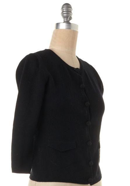 BURBERRY LONDON Black Knit Cardigan Sweater