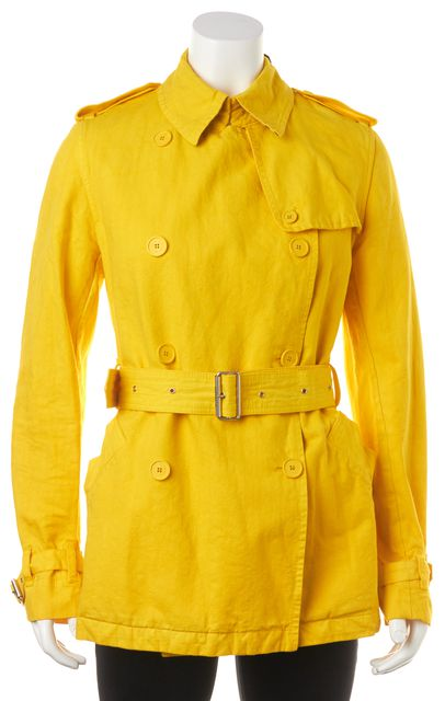 BURBERRY LONDON Yellow Cotton Trench Jacket