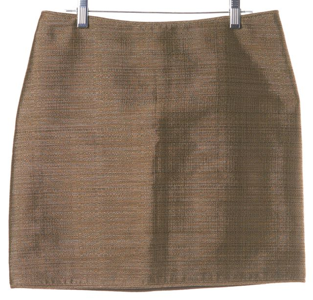 BURBERRY LONDON Beige Black Knit Mini Skirt