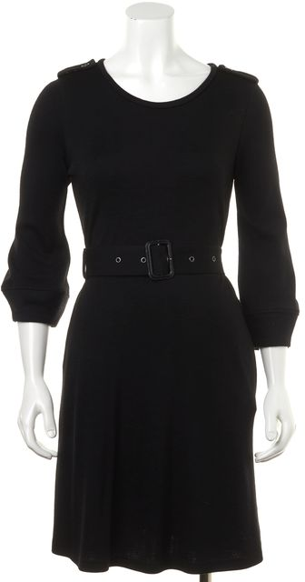 BURBERRY LONDON Black Wool Sheath Dress