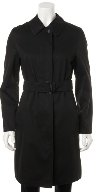 BURBERRY LONDON Black Pocket Front Belted Trench Coat