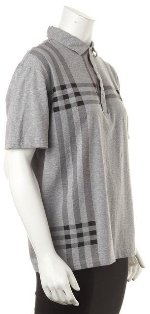 BURBERRY LONDON Gray Graphic Basic T-Shirt