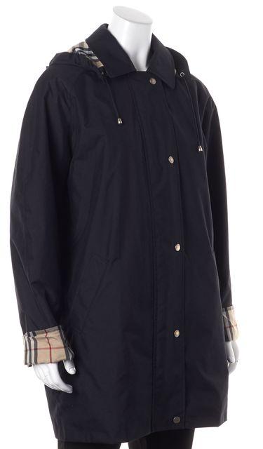 BURBERRY LONDON Black Mid-Length Basic Raincoat
