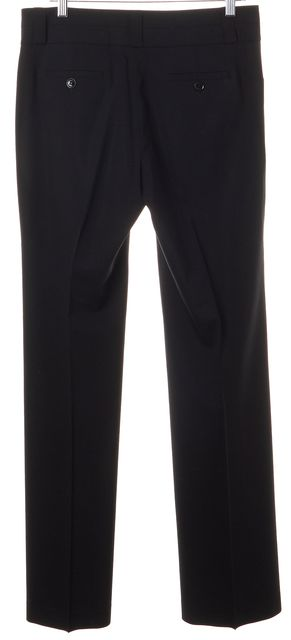 BURBERRY LONDON Black Wool Pleated Flared Leg Dress Pants