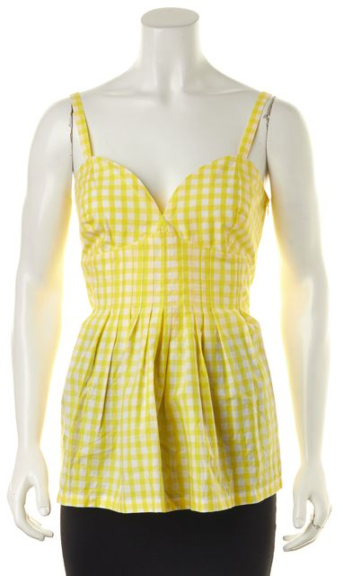 BURBERRY LONDON Lemon White Gingham Top