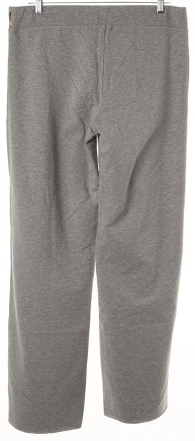 BURBERRY LONDON Gray Check Trim Fleece Lined Drawstring Casual Pants