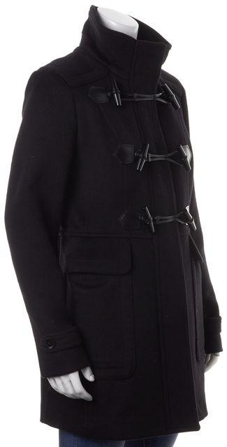 BURBERRY LONDON Black Wool Toggle Closure Coat