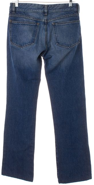 BURBERRY LONDON Blue Medium Wash Mid-Rise Boot Cut Jeans