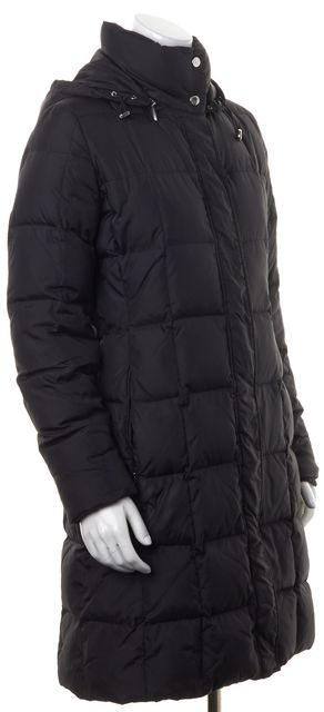 BURBERRY LONDON Solid Black Quilt Hooded Down Coat