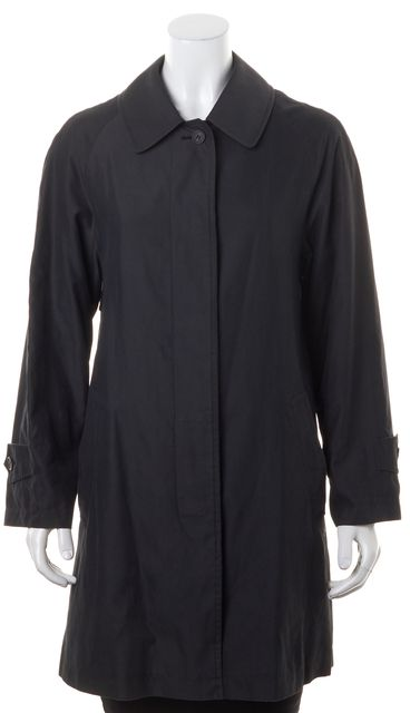 BURBERRY LONDON Dark Gray Soft Button Up Fall Coat