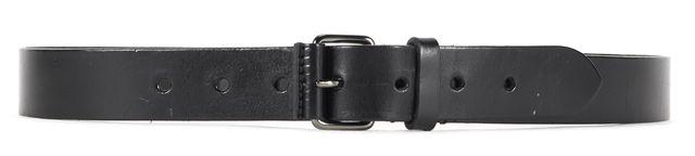 BURBERRY LONDON Black Leather Belt