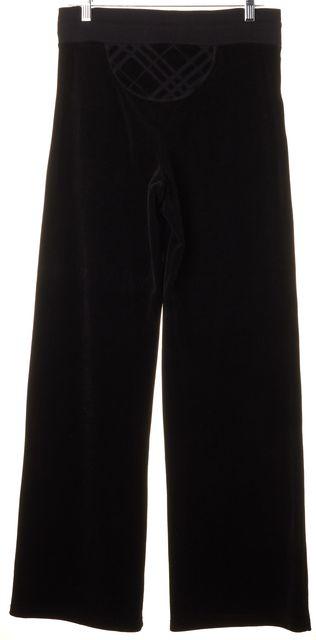BURBERRY LONDON Black Velour Drawstring Sweatpants