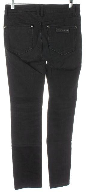 BURBERRY LONDON Black Stretch Cotton Denim Mid-Rise Skinny Jeans