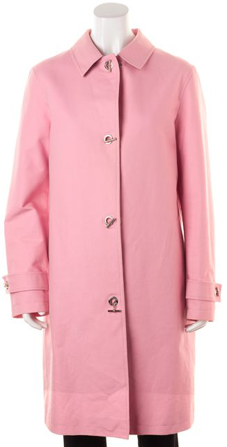 BURBERRY LONDON Baby Pink Cotton Toggle Car Coat