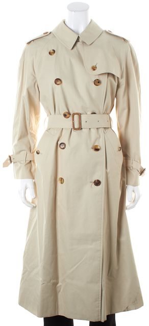BURBERRY LONDON Beige Double Breasted Belted Trench Coat