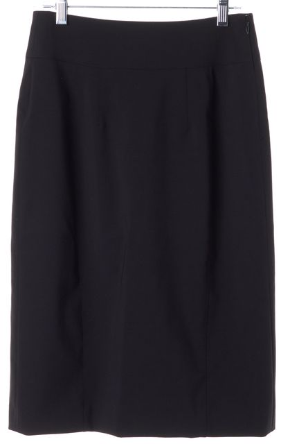 BURBERRY LONDON Black Wool Straight Skirt