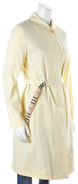 BURBERRY LONDON Yellow Belted Trench Outerwear
