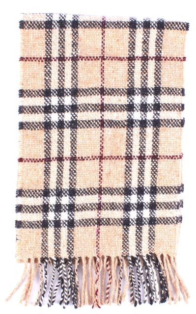 BURBERRY LONDON Beige Red & Black House Plaid House Check Scarf