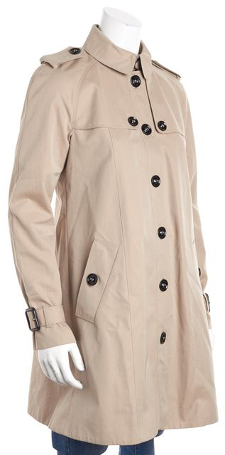 BURBERRY LONDON Beige House Check Lined Trench Outerwear