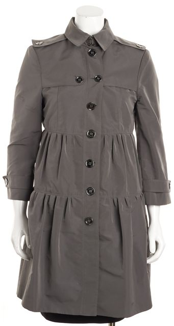 BURBERRY LONDON Gray Trench Outerwear