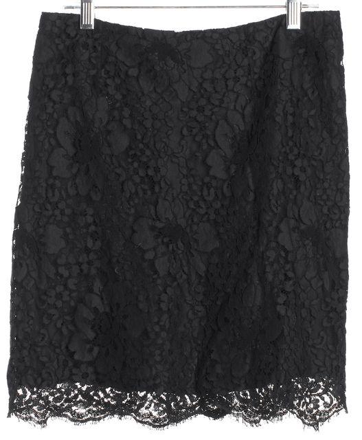 BURBERRY LONDON Black Lace A-Line Skirt