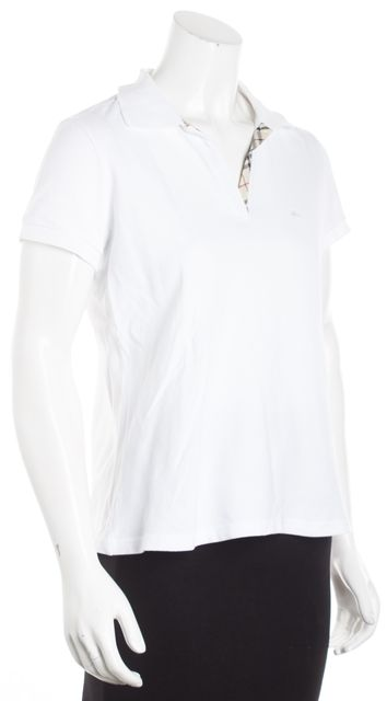 BURBERRY LONDON White Polo Shirt Top