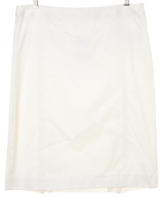 BURBERRY LONDON White Straight Pencil Skirt