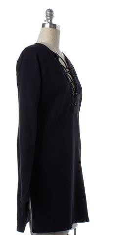 BLK DNM Black Lace Up Sweater Dress
