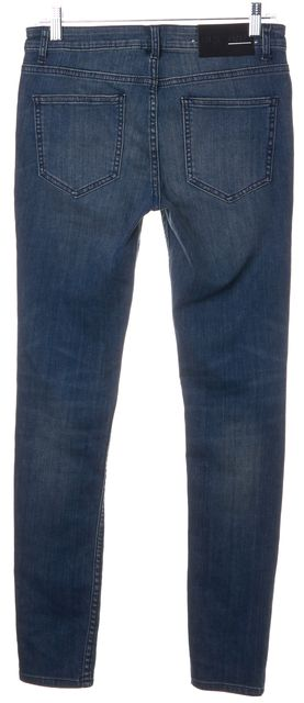 BLK DNM Blue Versey Blue Stretch Distressed Skinny Jeans