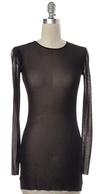 BLK DNM Black Sheer Tunic Knit Top