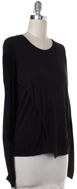BLK DNM Black Long Sleeve Knit Top