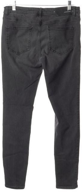 BLK DNM Grace Black Stretch Cotton Mid-Rise Skinny Jeans