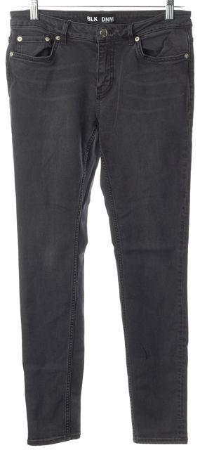 BLK DNM Grace Black Mid-Rise Stretch Cotton Skinny Jeans