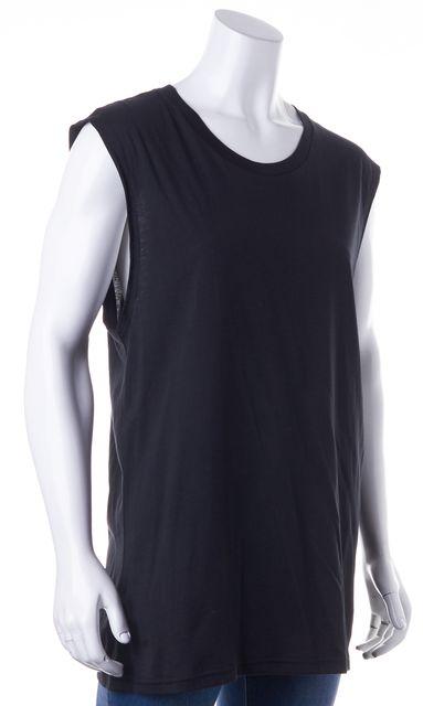 BLK DNM Black 100% Pima Cotton Sleeveless T-Shirt