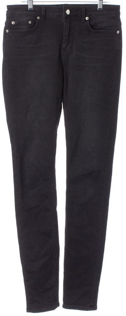 BLK DNM Black Stretch Cotton Mid-Rise Skinny Jeans