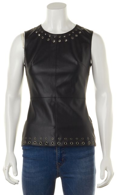 BAILEY 44 Occasion Black Leather Tank Top
