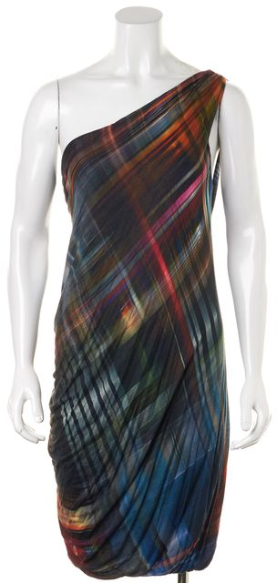 BAILEY 44 Multi-Color Abstract One Shoulder Sheath Dress