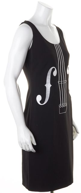 BOUTIQUE MOSCHINO Black Cello Sleeveless Sheath Dress
