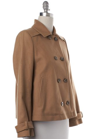 BOSS HUGO BOSS Brown Wool Double Breasted Jacket Coat