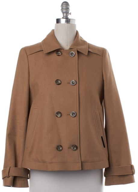 BOSS HUGO BOSS Brown Wool Double Breasted Jacket Coat