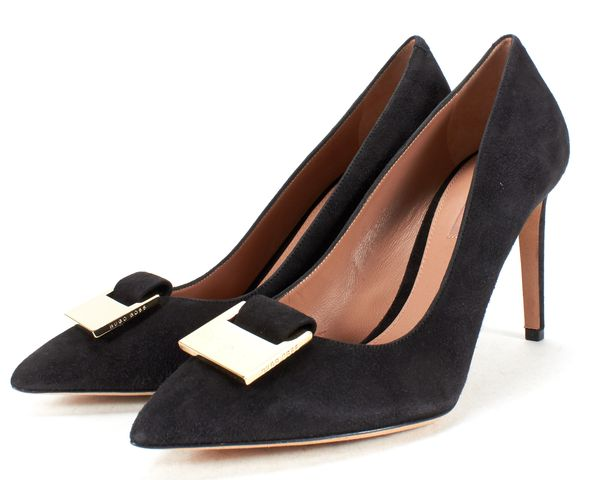 BOSS HUGO BOSS Black Suede Heels