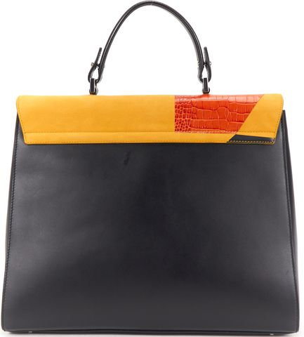 BOSS HUGO BOSS Yellow Orange Multi Leather BOSS Bespoke TH M-G Bag