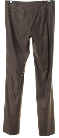 BOSS HUGO BOSS Brown Wool Straight Leg Dress Pants