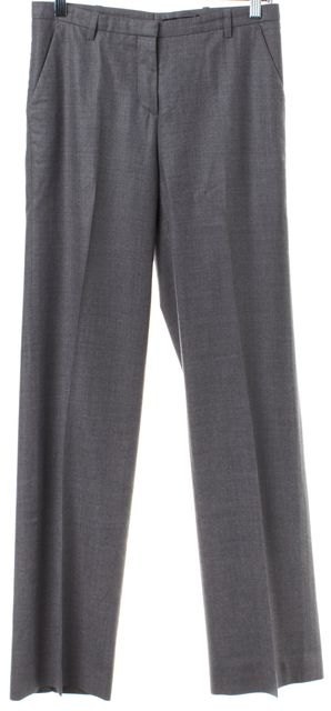 BOSS HUGO BOSS Light Gray Virgin Wool Straight Leg Dress Pants